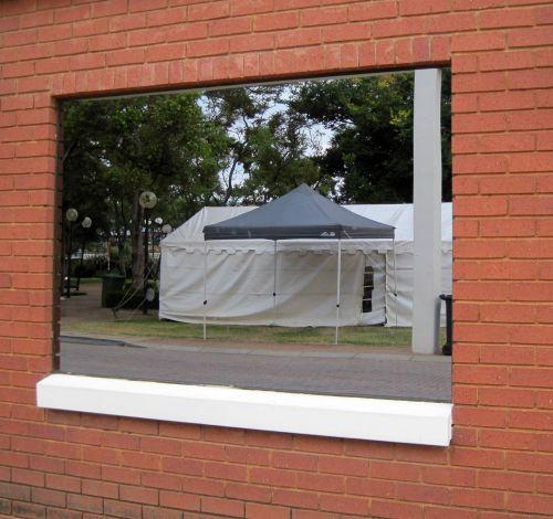 siena, langas, rodyti, Rodyti, Langai atspindintys palapines ir baldakimu