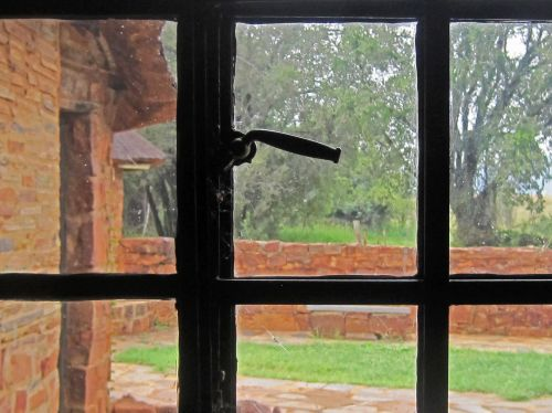 Window,frame,black,panels,glass,garden,view,window With