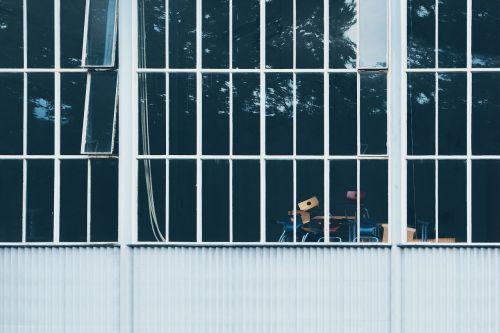 windows buildings chairs