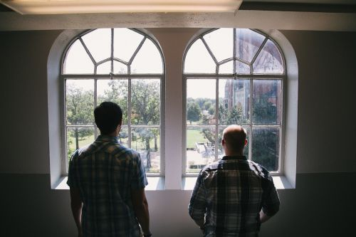 windows looking people