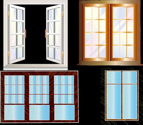 windows  shutters  open window