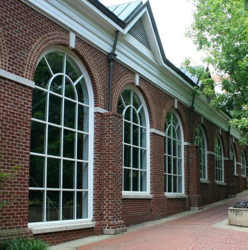 windows palladian sidewalk