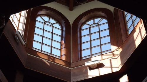 windows cupola sky