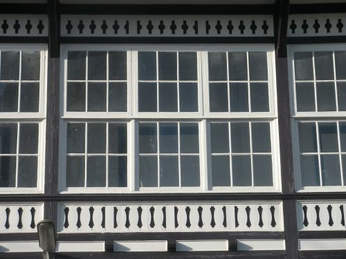 windows old mansion type barred