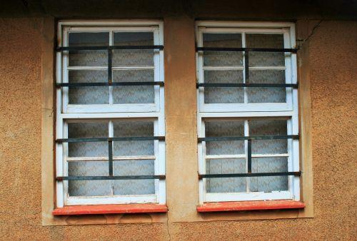 langai, rėmai, balta, stiklas, barai, langai su barais