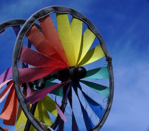 windspiel colorful wire