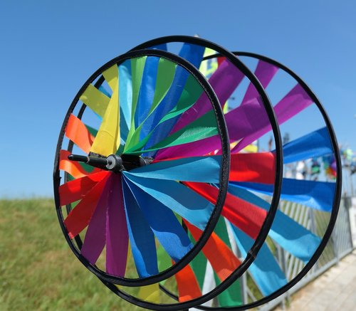 windspiel  colorful  rotation