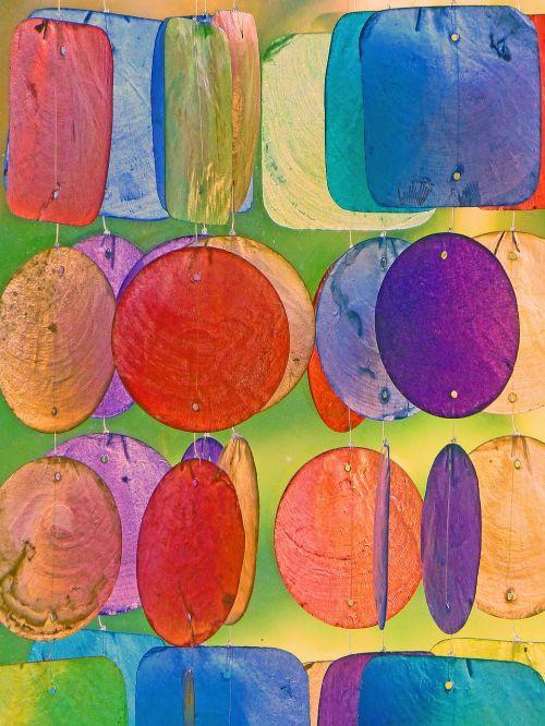 windspiel colorful gartendeko