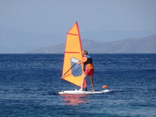 windsurf  sea  windsurfing