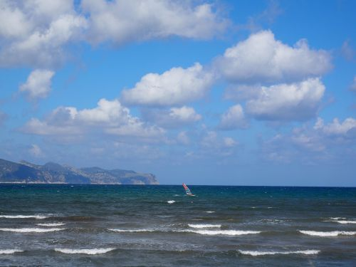 windsurfer sport sea
