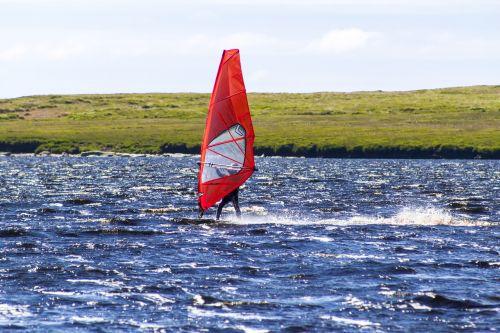 windsurfer water windsurfing