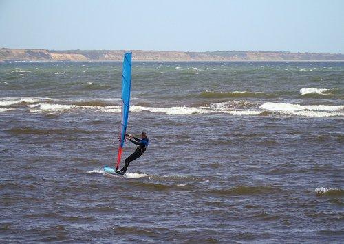 windsurfer  windsurfing  water