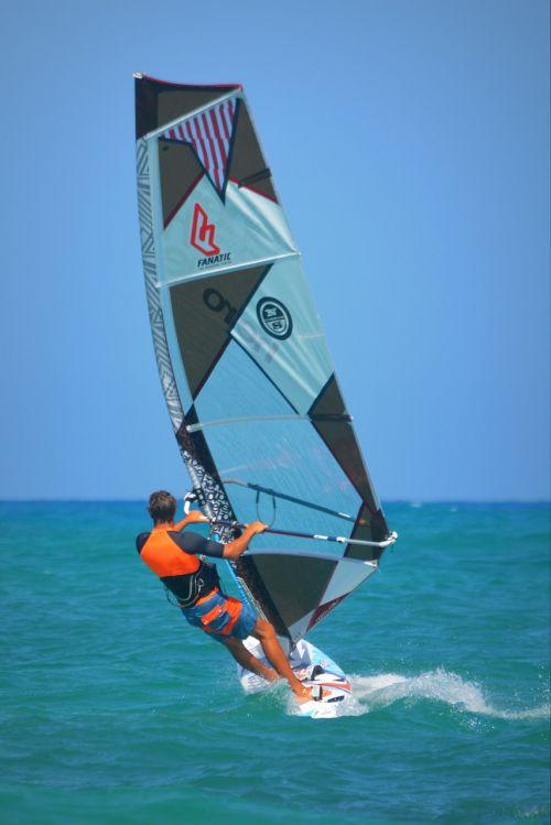 windsurfer sea sports