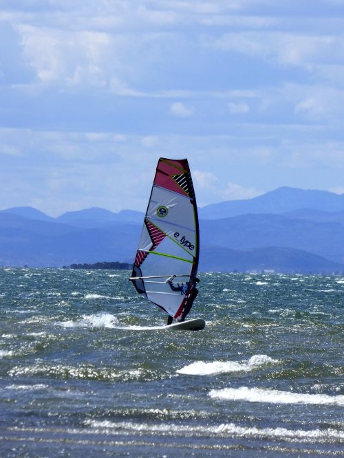 windsurfing water sports sea