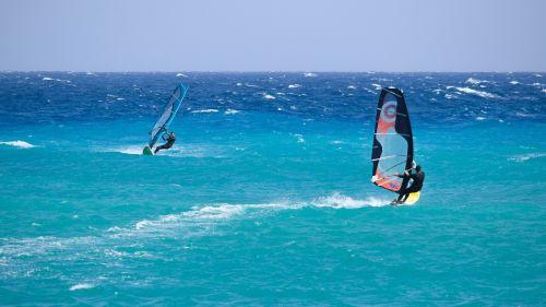 windsurfing sport sea