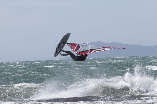 windsurfing jump sport