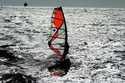 windsurfing mar sport