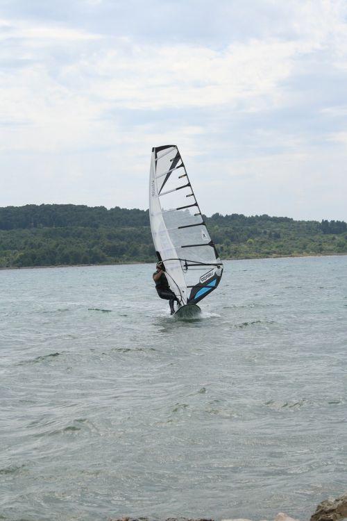 windsurfing surfer sail