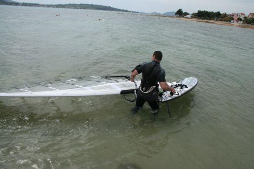 windsurfing extreme sport summer