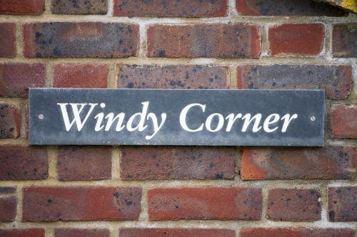 Windy Corner Sign