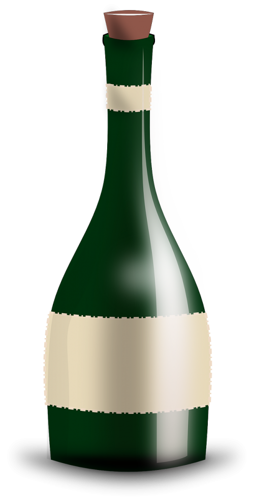 wine bottle champagne