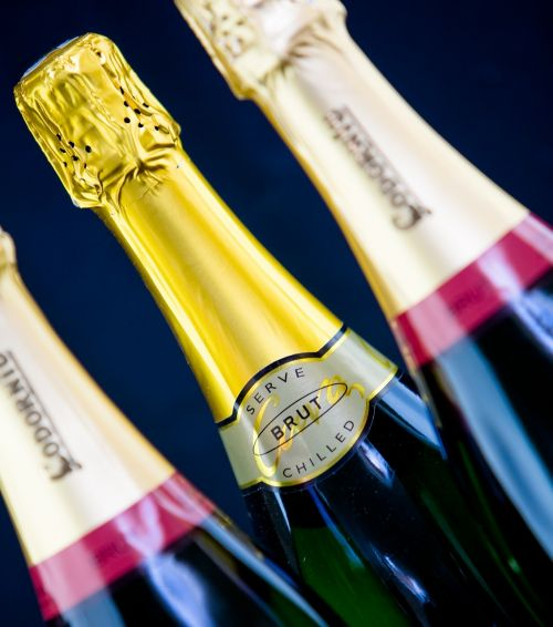 wine champagne bottles