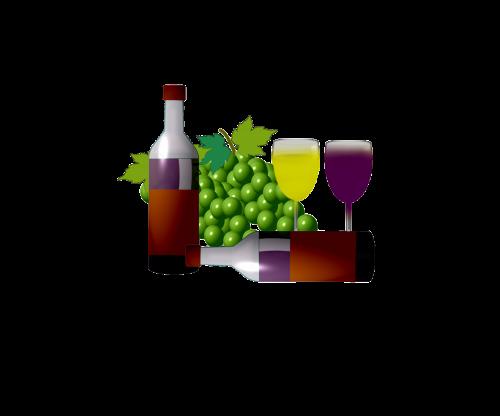 wine bottle aperitif