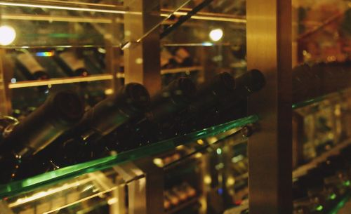 wine cellar bottles