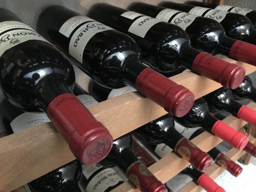 wine bottles glass