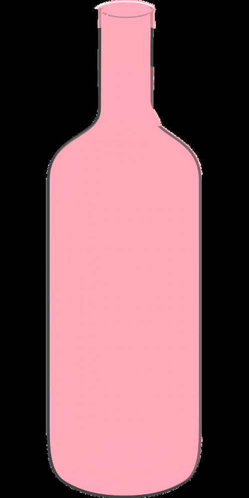 wine bottle pink