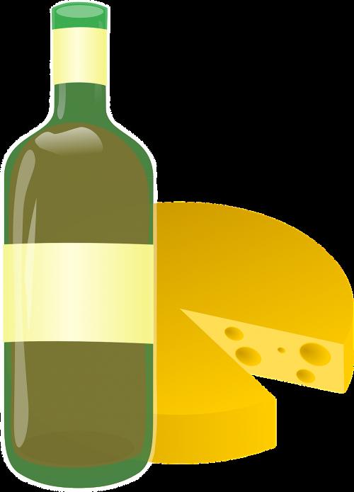 wine cheese bottle