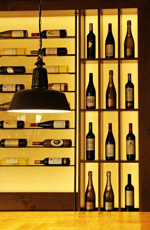 wine  wine bottles  wine rack