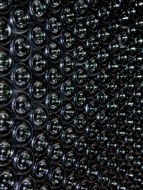 wine bottles stock