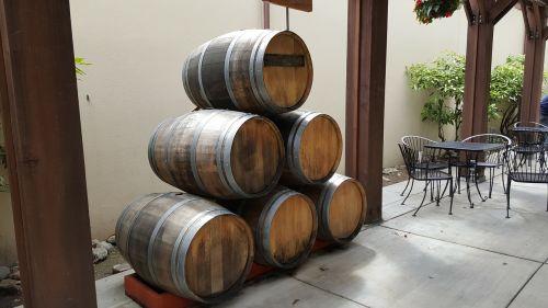 wine barrels winery cask