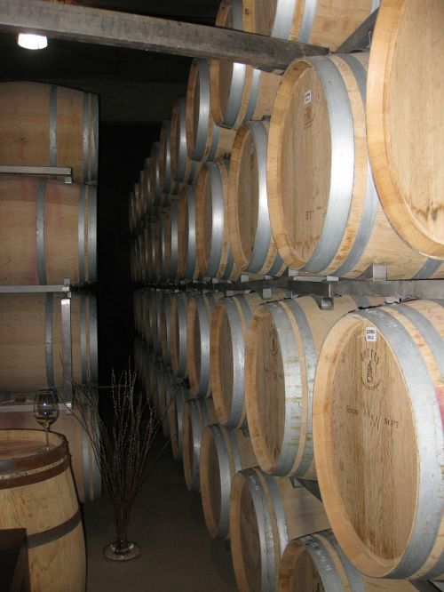 wine barrels winery storage