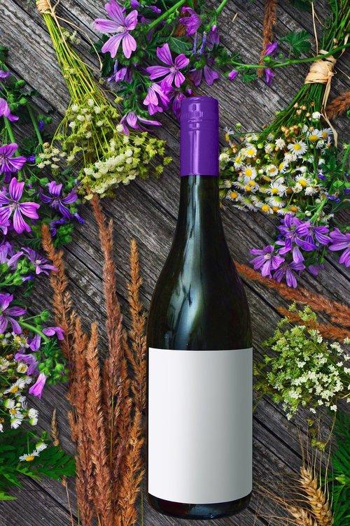 wine bottle  wine  purple