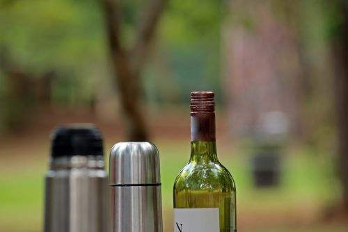 Wine Bottle And Hot Water Flask
