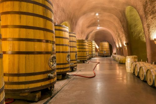 wine cellar caves tunnel