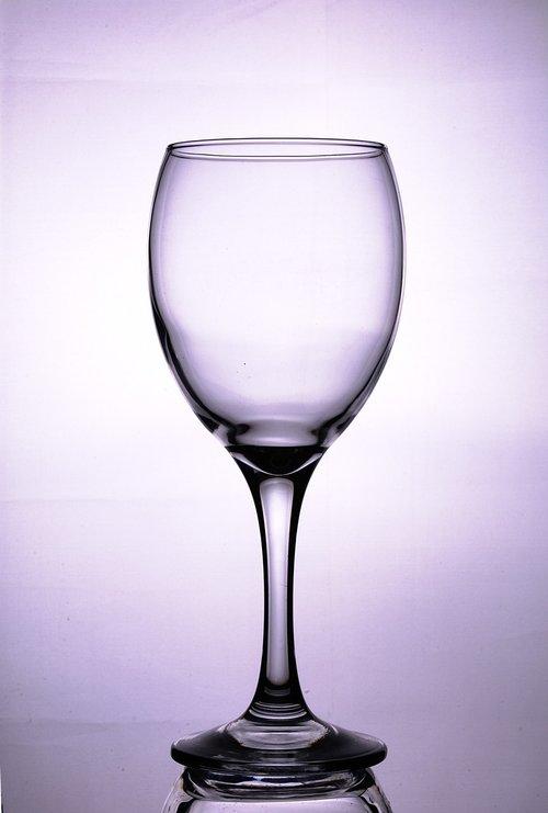 wine glass  empty  transparent