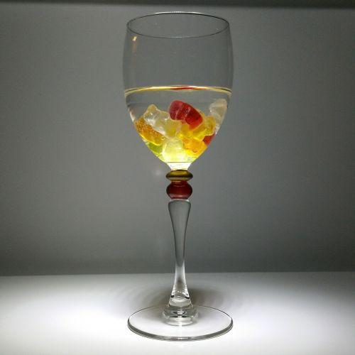 wine glass gummibärchen fruit jelly