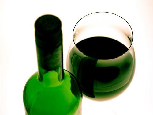 wine glass red wine wine bottle