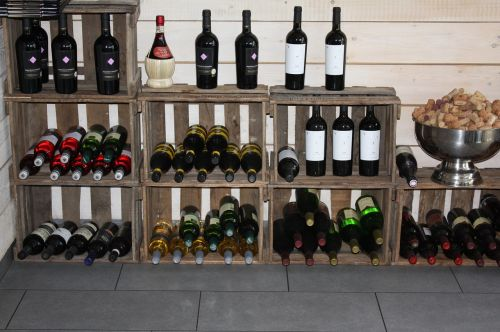 wine rack wine bottles weindeko