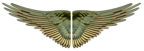 wing gilded gold