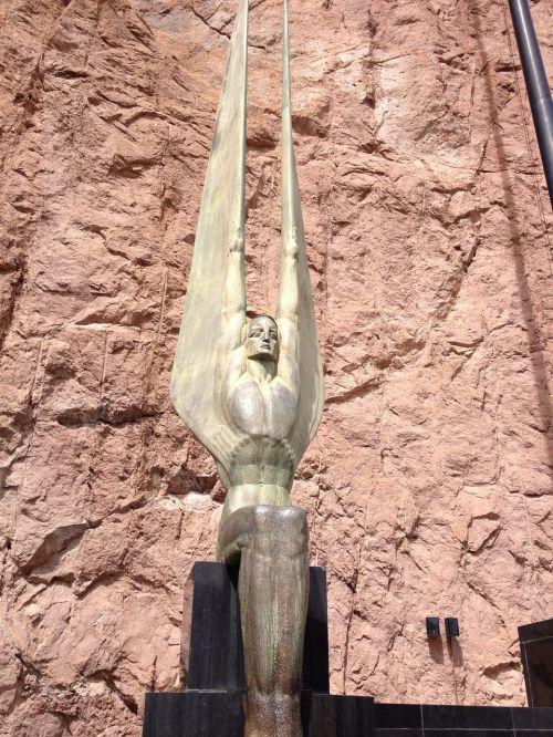 winged figure figure wings