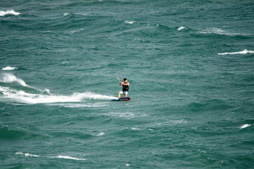 Windsurfer Stance On Board