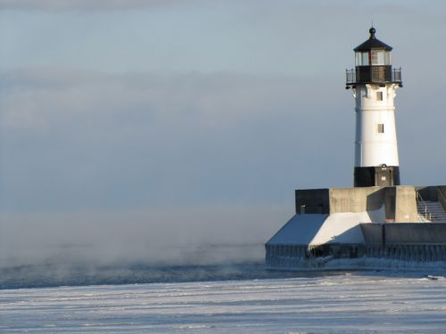 lighthouse winter cold
