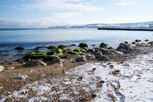 winter sea crimea