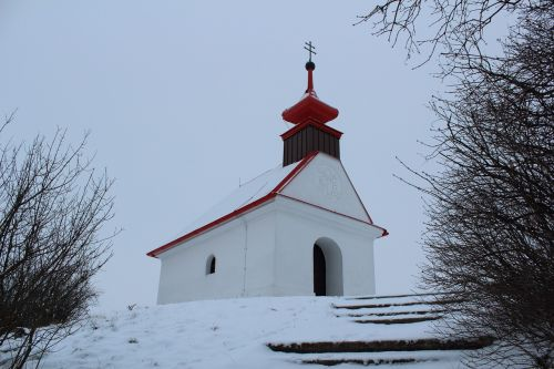 winter snow chapel