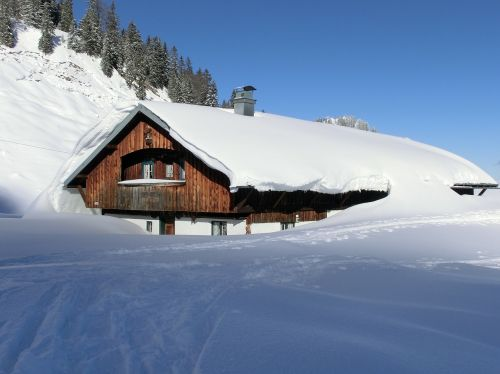 winter snowy home