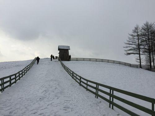 winter landscape ranch